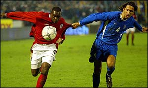 Emile Heskey (left)
